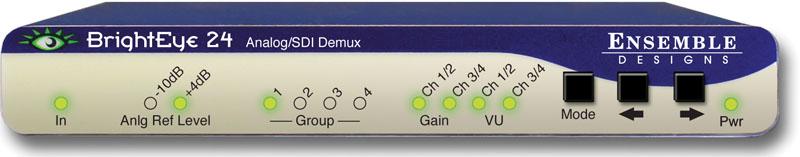 BrightEye 24 SDI to Analog Converter and Disembedder from Ensemble Designs